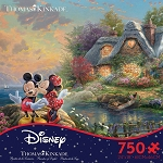 Disney Puzzle - Mickey and Minnie Mouse at Cottage by Thomas Kinkade