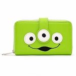 Disney Loungefly Zip Around Wallet - Toy Story Green Alien