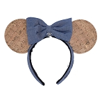 Disney Ear Headband - Disney Pin Trading - Corkboard Minnie Ears (Removable Bow)