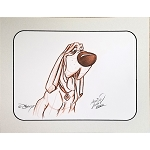 Disney Artist Sketch - Lady & The Tramp - Trusty the Hound