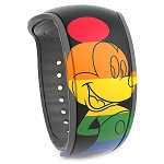 Disney MagicBand 2 Bracelet - Rainbow Disney Collection Mickey Mouse