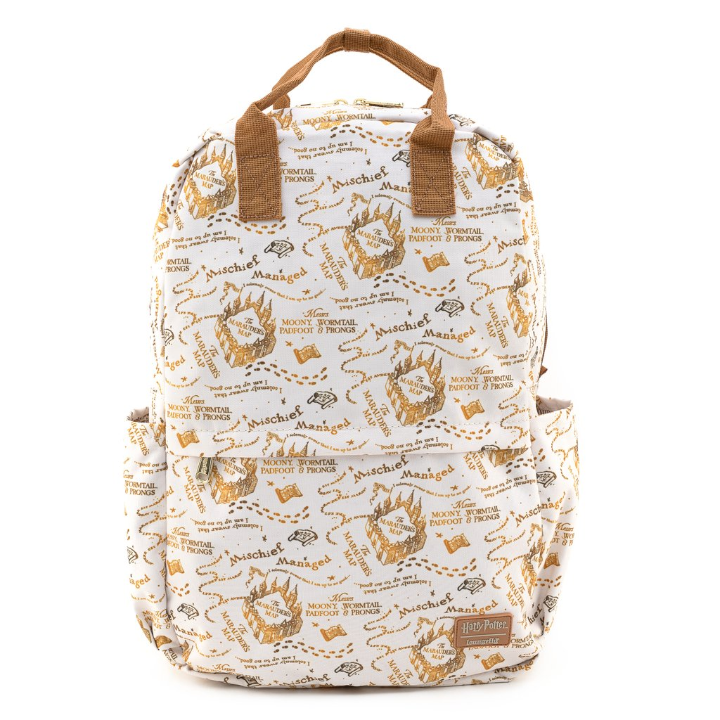 Universal Loungefly Nylon Backpack - Harry Potter Marauders Map AOP