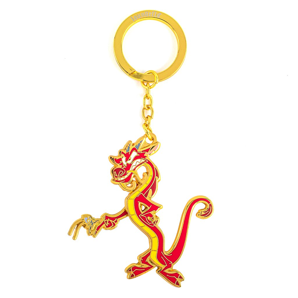 Disney Loungefly Keychain - Disney Mushu and Cri-kee Movable Arm