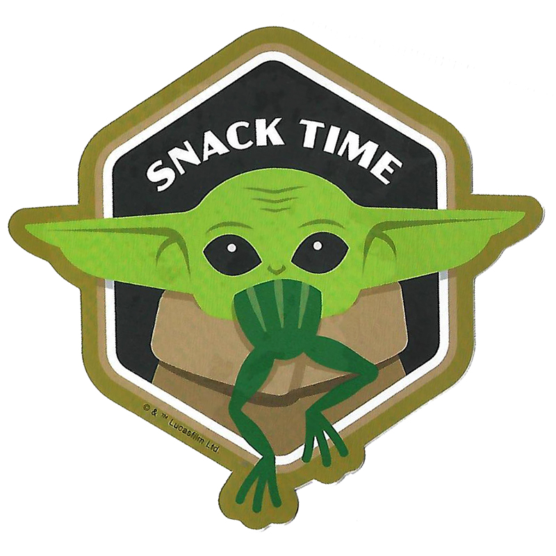 baby yoda park day decal