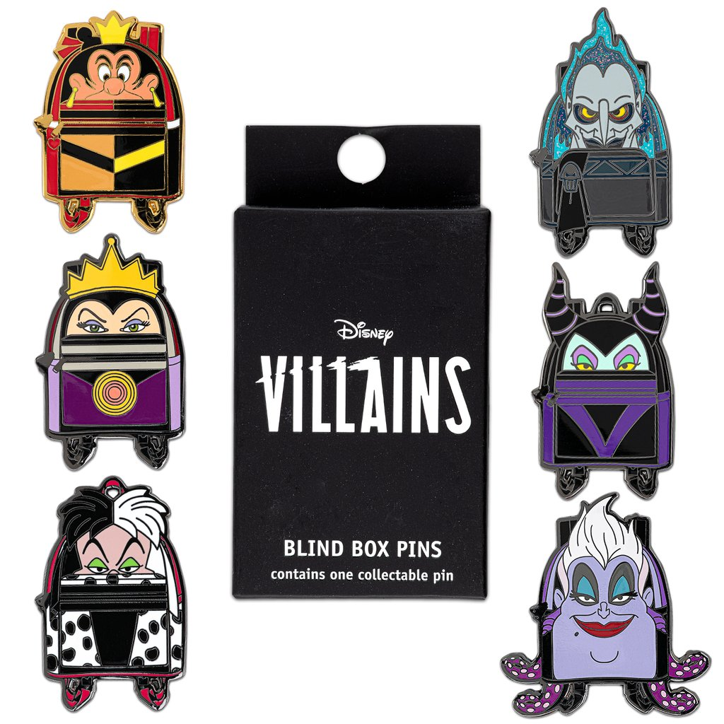 Disney Loungefly Mystery Pin - Villains Mini Backpacks