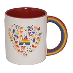 Disney Coffee Cup - Rainbow Heart - Pride - My Happy Place