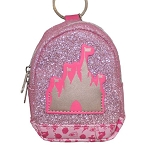 Disney Keychain - Miniature Backpack Coin Purse - Cinderella Castle Glitter Princess Icons