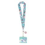 Disney Loungefly Lanyard with Cardholder - Disney Mulan Cherry Blossom and Mushu