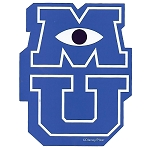 Disney Window Decal - Monsters University - MU Logo