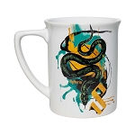 Universal Coffee Cup Mug - Slytherin Snake Watercolor