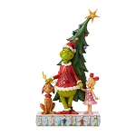 Universal Grinch by Jim Shore Figure - Grinch, Max and Cindy by Tree