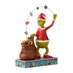 Universal Grinch by Jim Shore Figure - Grinch Juggling Gifts into Bag
