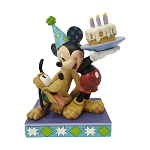 Disney Traditions by Jim Shore - Pluto and Mickey Birthday