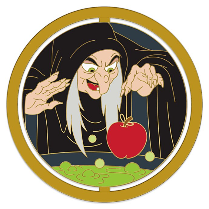 Disney Pin - Enchanted Emblems - Evil Queen as Hag - Snow White and the Seven Dwarfs
