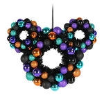 Disney Holiday Wreath - Happy Halloween 2020 - Mickey Mouse Ears Icon Black Orange Purple