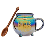 Disney Coffee Cup Mug - Happy Halloween - Hocus Pocus Iridescent Cauldron w/ Spoon