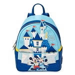 Disney Parks Loungefly Mini Backpack Bag - Cinderella Castle - Disneylany 65th Anniversary