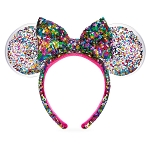 Disney Ear Headband - Minnie Mouse Sequined - Confetti Filled
