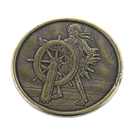 Disney World Pocket Token - Bronze - Magic Kingdom - Pirates of the Caribbean - Skeleton at the Helm