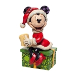 Disney Traditions by Jim Shore Santa Minnie with Hot Chocolate