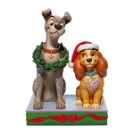 Disney Traditions by Jim Shore - Christmas Lady and the Tramp