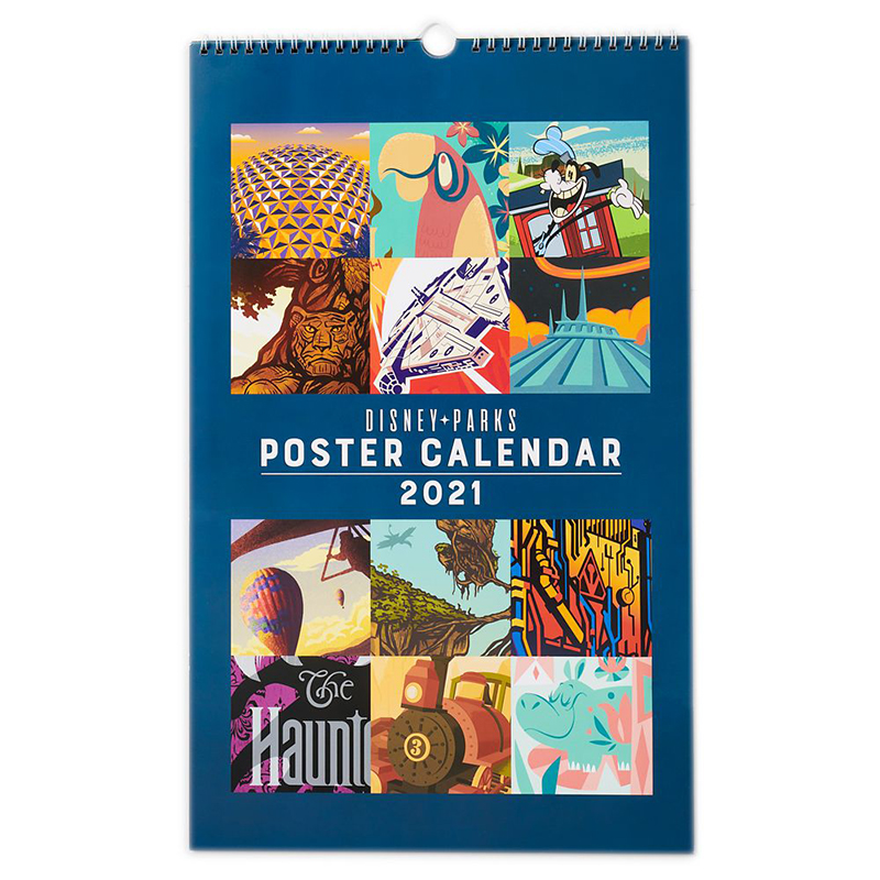 Disney Parks Poster Wall Calendar - Attractions - 2021