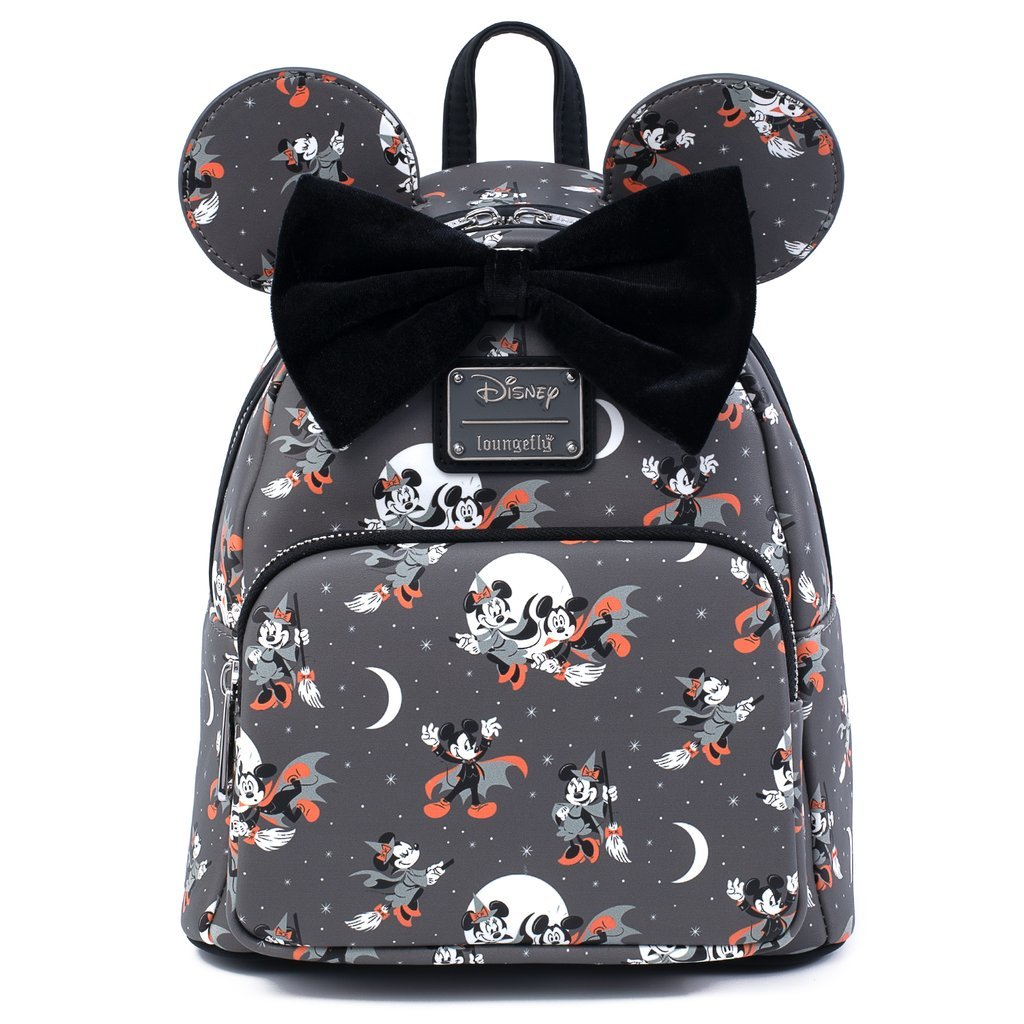 Disney Loungefly Mini Backpack - Minnie and Mickey Halloween AOP