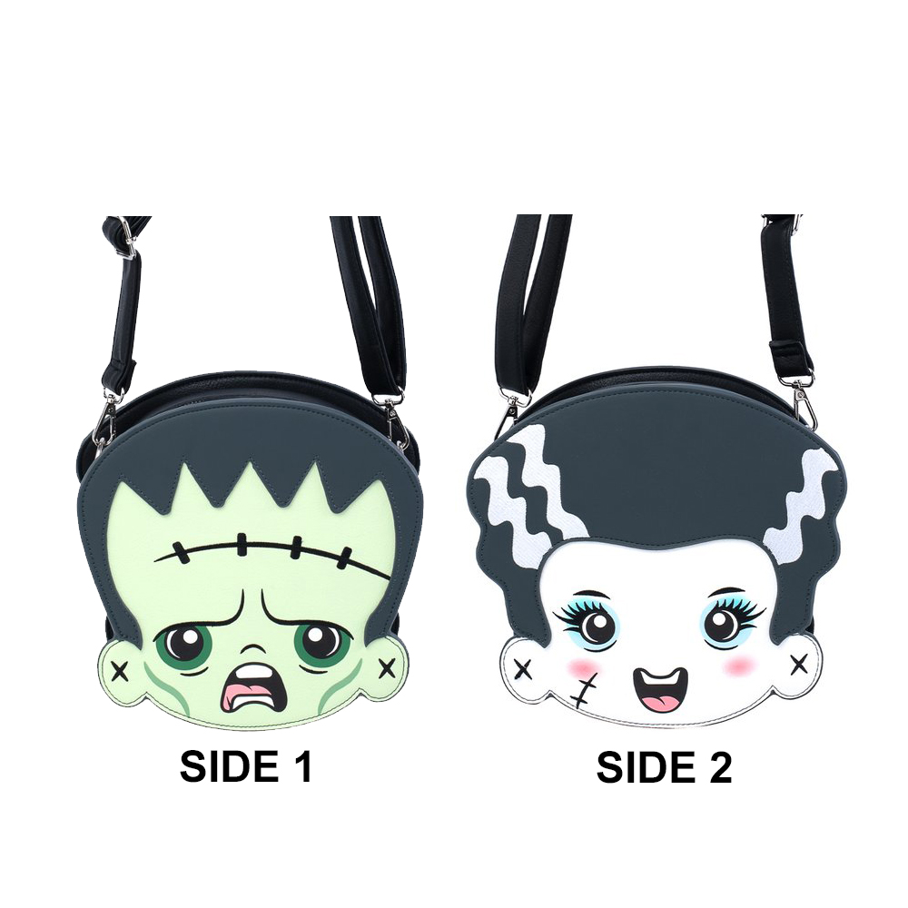 Universal Loungefly Bag - Universal Monsters - Frankenstein & Bride - Double Sided Crossbody