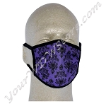 Disney Face Mask - Haunted Mansion - Purple Wallpaper