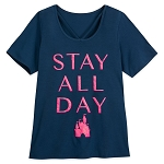 Disney Women's Shirt by Her Universe - Fantasyland Castle - Stay All Day