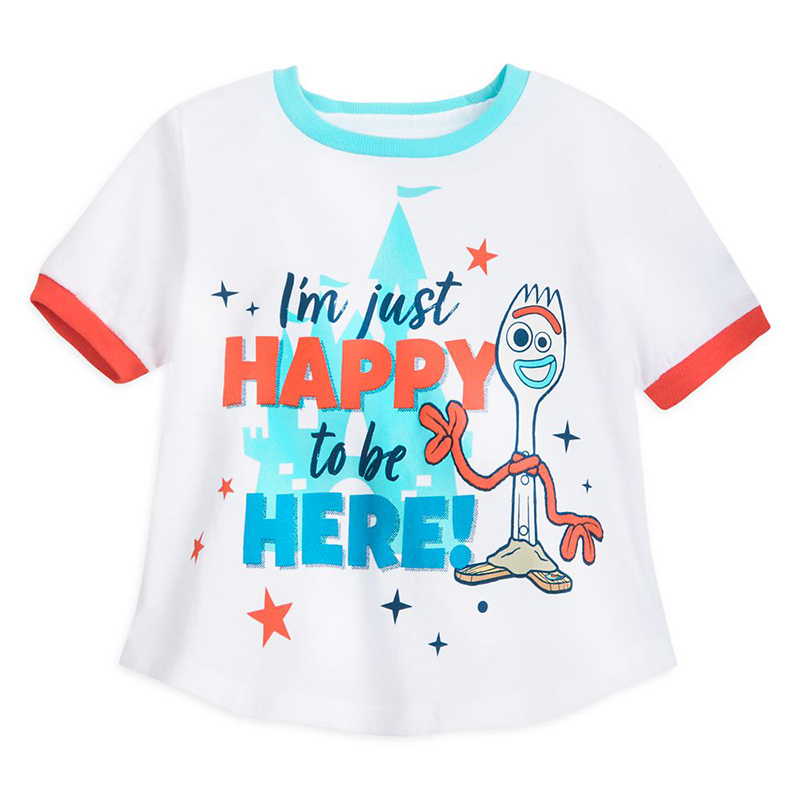 Disney Youth Shirt - Toy Story 4 - Forky - I'm Just Happy to be Here