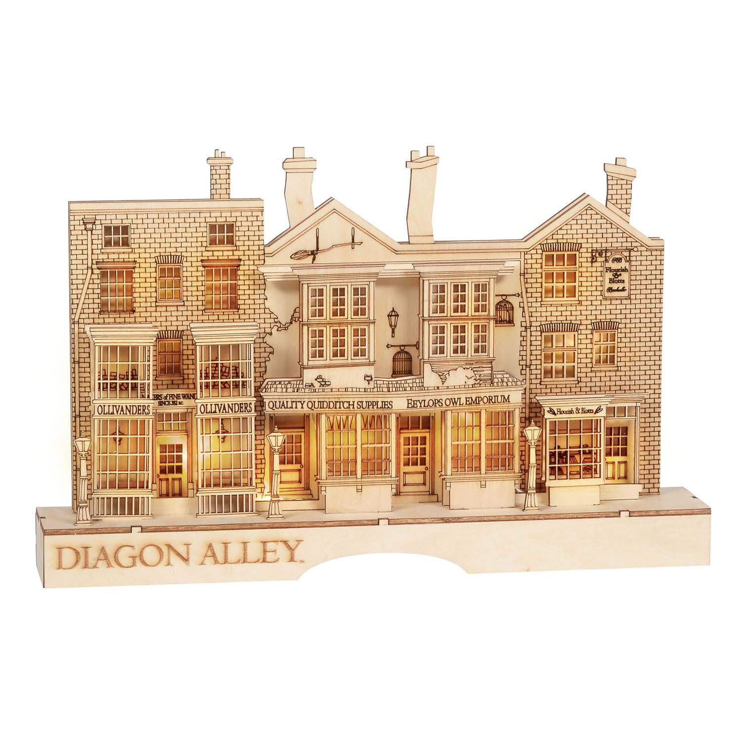 Universal Flourish Wood Figure - Harry Potter - Light Up Diagon Alley