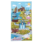 Disney Beach Towel - Walt Disney World - Park Icons