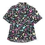 Disney Women's Woven Shirt by Her Universe - Disney Parks Neon Icons