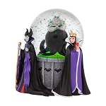 Disney Snow Globe - Villains Maleficent, Ursula, Evil Queen