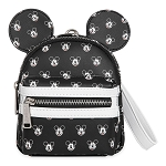 Disney Parks Loungefly Wristlet Backpack Bag - Mickey Mouse Faces