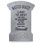 Disney Garden Decoration - Master Gracey Tombstone Replica