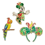 Disney Pin Set - Minnie Mouse The Main Attraction - Enchanted Tiki Room