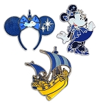 Disney Pin Set - Minnie Mouse The Main Attraction - Peter Pan's Flight