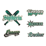 Universal Pin Set - Harry Potter - Slytherin Quidditch Team