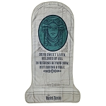 Disney Beach Towel - Haunted Mansion - Madame Leota Tombstone