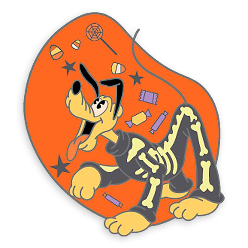 2020 Halloween Disney Pluto Pin Disney Pin   Halloween 2020   Skeleton Pluto