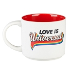 Universal Coffee Cup Mug - Love Is Universal - Retro Rainbow