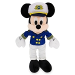 Disney Plush - Disney Cruise Line - Captain Mickey Mouse - 11''