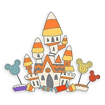 Disney Pin - Halloween 2020 - Candy Corn Castle