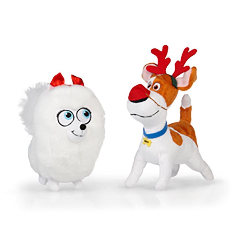 Universal Plush Holiday Beanie Set - The Secret Life of Pets - Max & Gidget