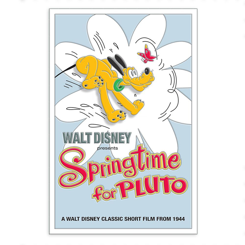 Disney Pin - Pluto 90th Anniversary Pin – Springtime for Pluto – Limited Edition