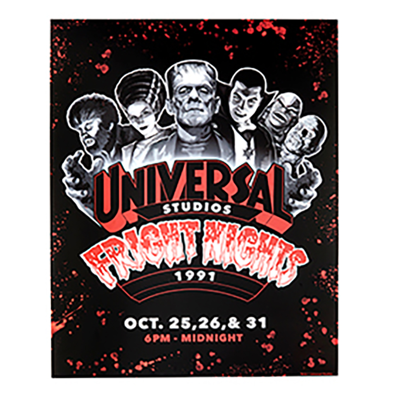 Universal Poster - Halloween Horror Nights - Retro Fright Nights 1991 Monsters