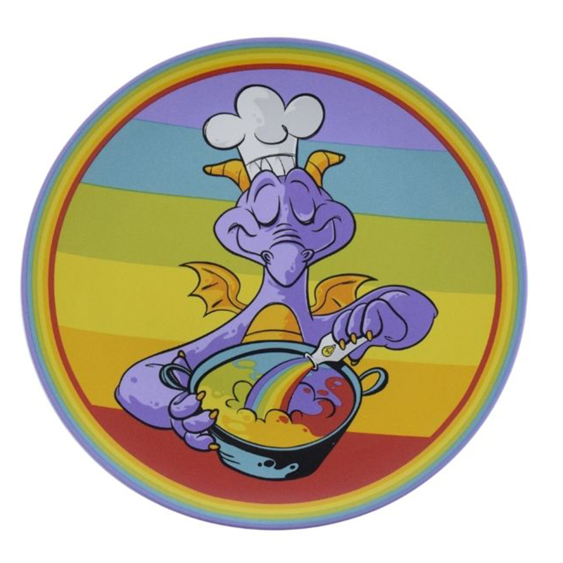 2020 EPCOT Food /& Wine Festival Disney Parks FIGMENT Rainbow Plate NEW