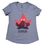 Disney Womens Shirt - EPCOT World Showcase - Canada - Maple Leaf and Mickey Head